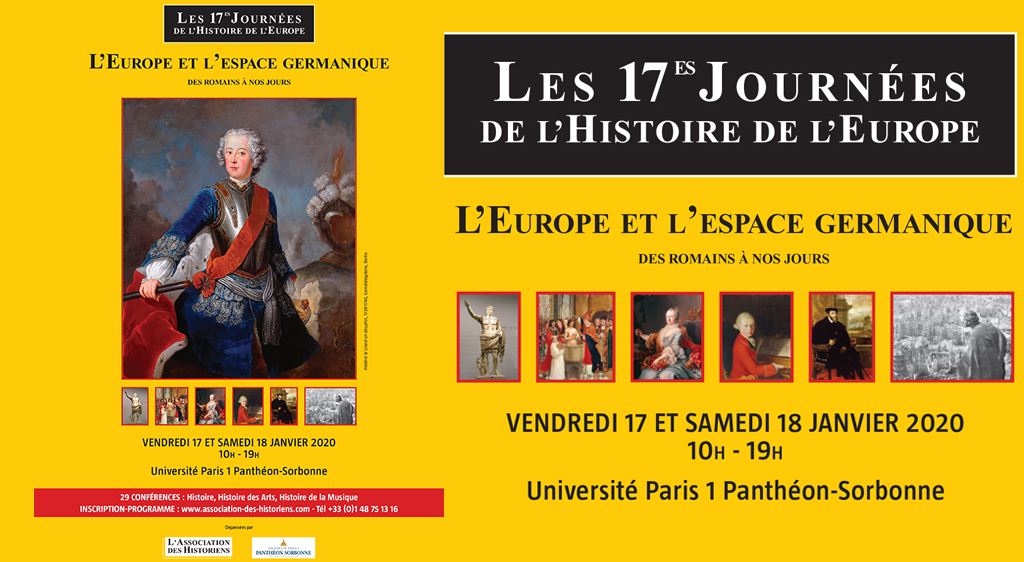 Les 17e journées de l'histoire de l'Europe